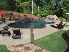 Gunite pool with grotto