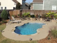 Fiberglass freeform pool