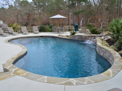 Freeform Gunite pool 2