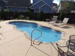Freeform fiberglass pool