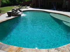 Freeform gunite pool 4