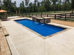 Geometric Fiberglass Pool