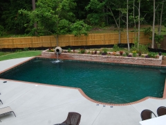 Geometric gunite pool 3