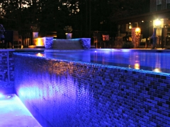 Gunite pool with LED lights