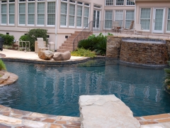 Gunite pool with diving board (2)