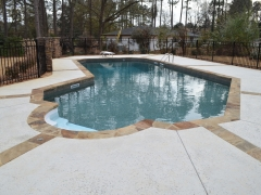 Lazy L Swimming Pool_ Stone Expansion Joints_ Salt Pitted Concrete Decking