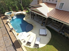 Overhead freeform gunite pool