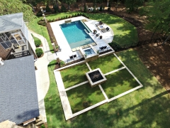 Overhead geometric gunite pool