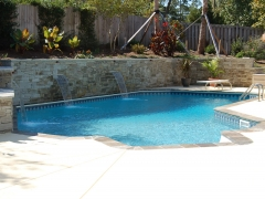 Small Lazy L Vinyl Pool_ Decorative Retaining Wall