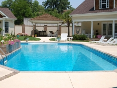 True L Vinyl Swimming Pool with Brick Expansion Joints