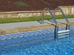 Vinyl Swimming Pool Pattern_ Stone Coping