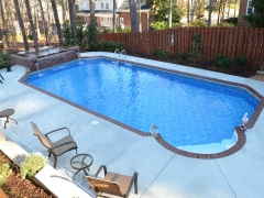 Vinyl Swimming Pool with Brick Coping