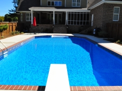 Vinyl Swimming Pool with Brick Coping(2)