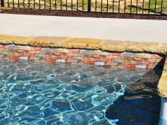 Vinyl Swimming Pool with Stone Coping