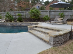 Elevated Patio; Elevation Design; Gunite Swimming Pool