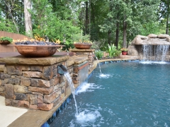 Fire Bowls_ Water Feature_ Hot Tub Enclosure_ Swimming Pool Grotto_ Pool Renovaton