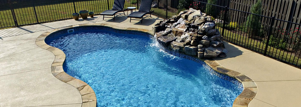 Fiberglass pools evans aiken swimming pools top pool for Fiberglass pool installation